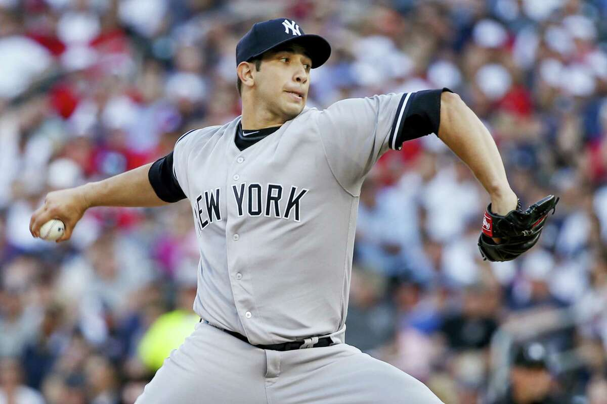 New York Yankees starting pitcher Luis Cessa throws to the Minnesota Twins in the first inning of a 6-3 victory.