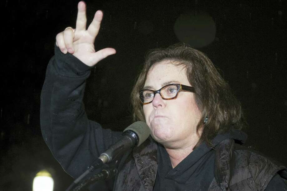 In this Feb. 28, 2017, file photo, Rosie O'Donnell speaks at a rally calling for resistance to President Donald Trump in Lafayette Park in front of the White House in Washington, prior the president's address to a joint session of Congress. Conservative blogs are criticizing O'Donnell after she tweeted a link to an online game July 15, 2017, where players can lead President Trump off a cliff. Photo: AP Photo/Cliff Owen, File  / FR170079 AP