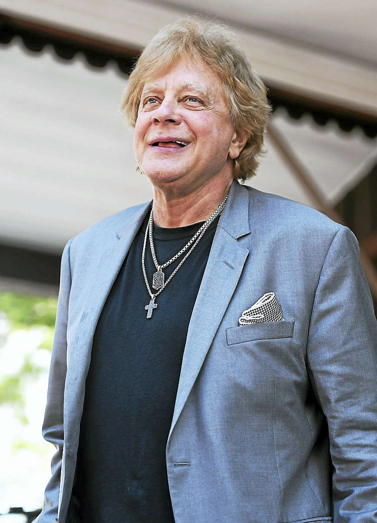 Singer, songwriter and multi-instrumentalist Eddie Money smiles at his fans at the start of his concert at the Indian Ranch Amphitheater in Webster, Mass., on Saturday, July 15. Eddie enjoyed success during the 1970s and 1980s with a string of Top 40 hits and platinum albums, selling nearly 45 million albums to date. His son, Dez Money & The Faze was the opening act and his daughter Jesse Money performed along with the Eddie Money Band. To learn more about the great line up of outdoor afternoon concerts held at Indian Ranch, visit www.indianranch.com