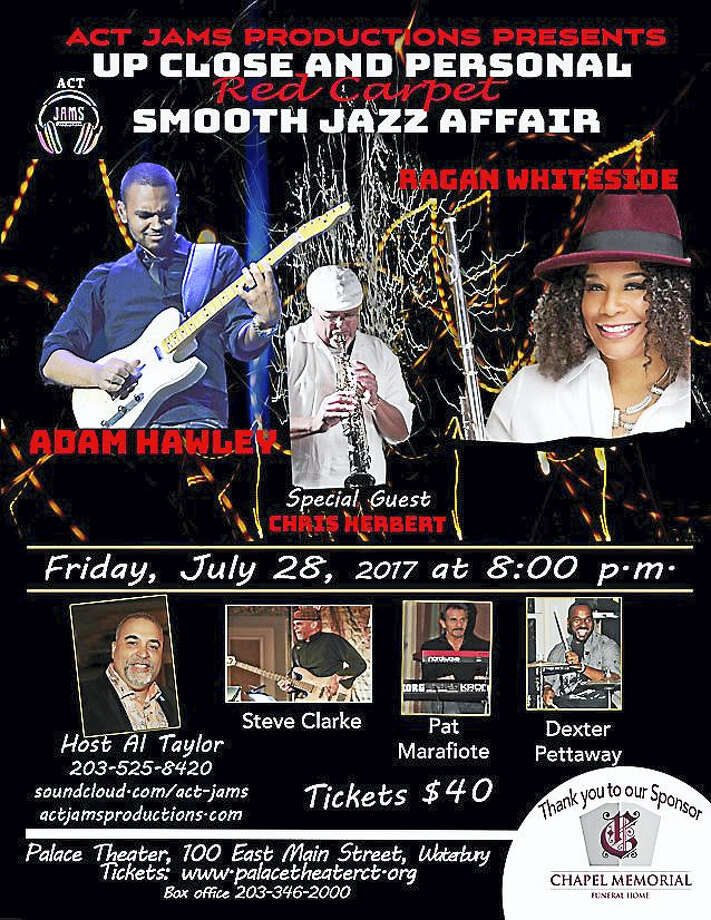 Contributed photo ACT Jams Productions presents an Up Close and Personal Red Carpet Smooth Jazz Affair featuring Billboard Smooth Jazz Artist Adam Hawley (guitar) and Ragan Whiteside (flute) on Friday, July 28, 8 p.m. in the Palace Theater Orchestra Lobby 100 East Main St. Photo: Digital First Media