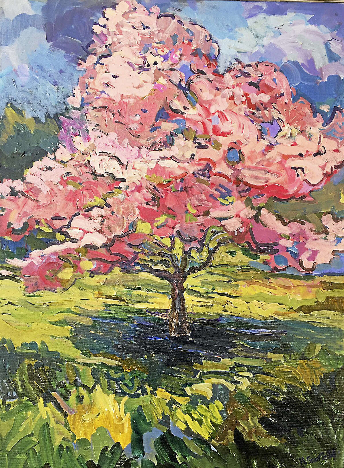 Paintings by Heather Scofield will be shown at the Gunn Memorial Library in Washington through Sept. 9, with an opening reception on July 29.