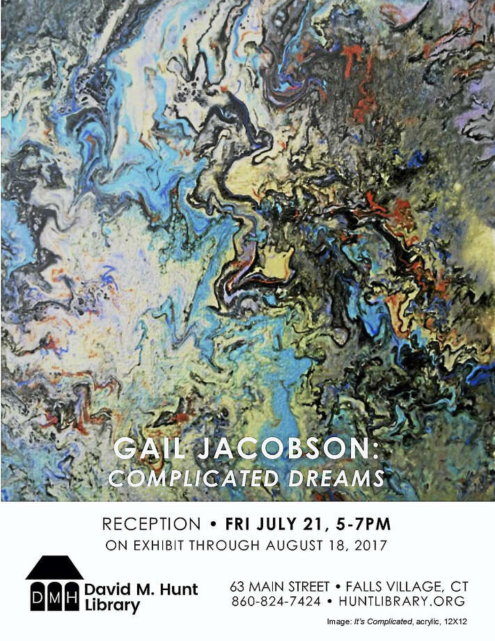 Paintings by Gail Jacobson will be featured at the Hunt Library in Falls Village. Photo: Contributed Photo