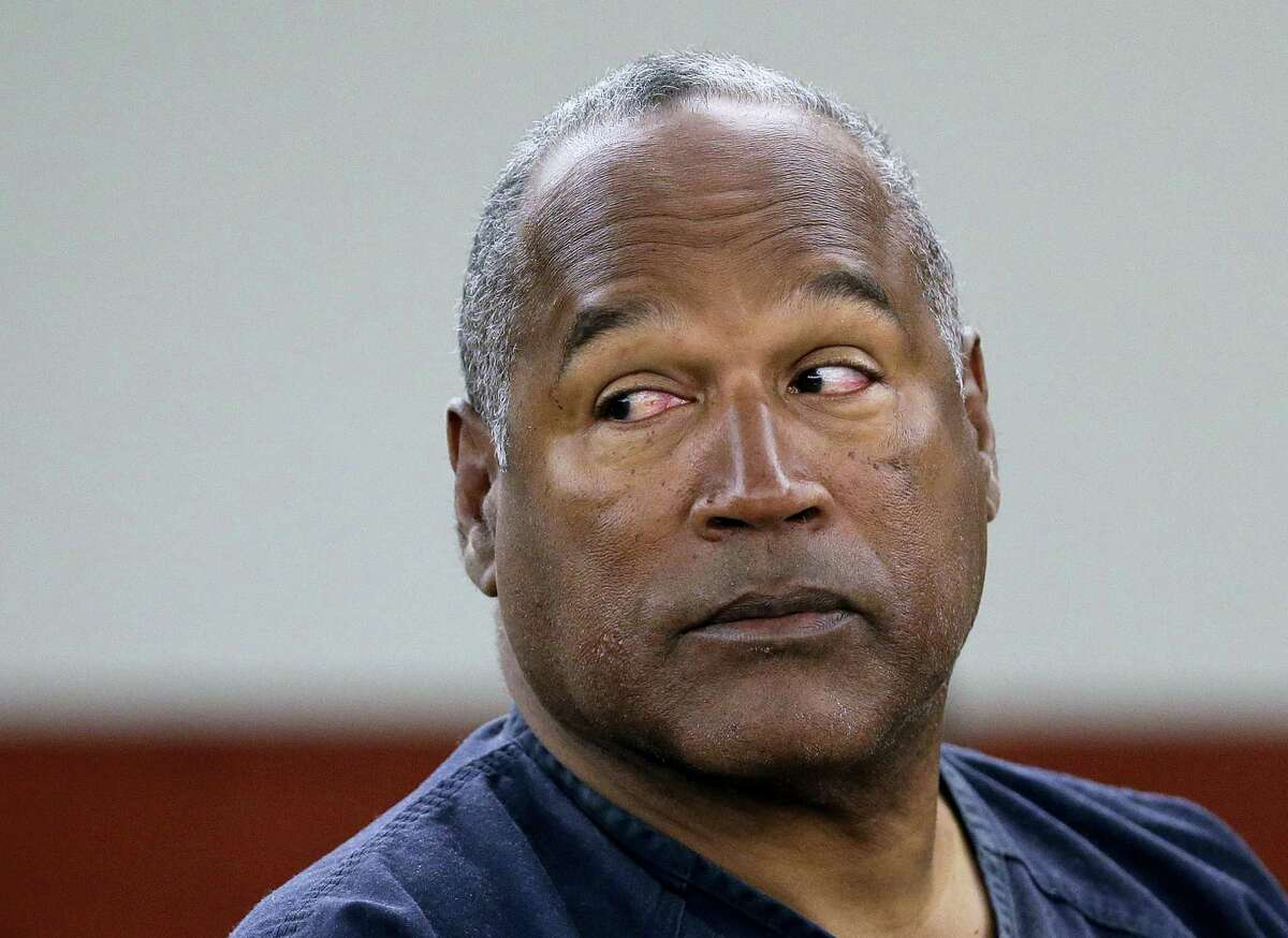 AP Photo — Julie Jacobson, Pool, File In this May 13, 2013 photo, O.J. Simpson appears at an evidentiary hearing in Clark County District Court, in Las Vegas. Los Angeles police are investigating a knife purportedly found some time ago at the former home of Simpson, who was acquitted of murder charges in the 1994 stabbing deaths of his ex-wife Nicole Brown Simpson and her friend Ron Goldman.