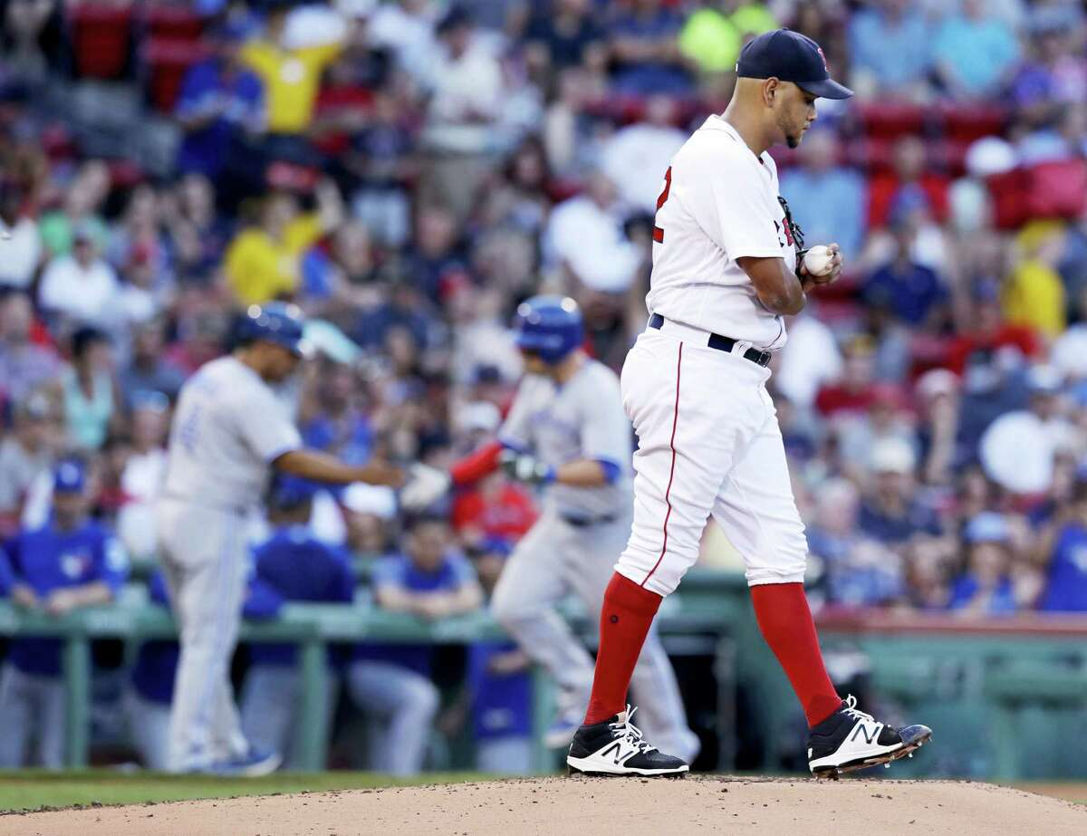 Red Sox starting pitcher Eduardo Rodriguez allowed three runs over 5 1/3 innings on Monday.