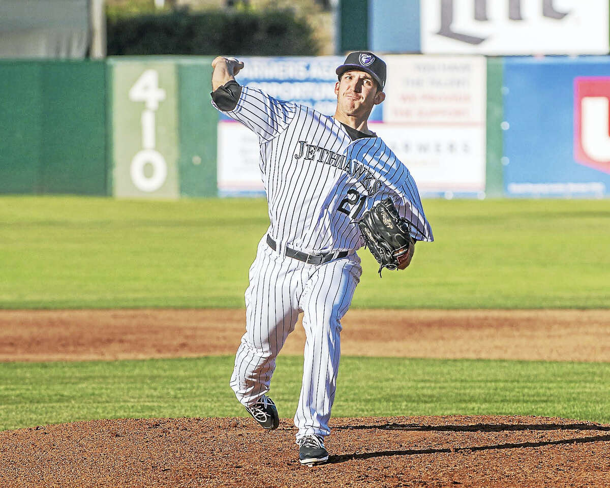 Guilford's Craig Schlitter went 10-1 with a 2.50 ERA for the High-A Lancaster JetHawks before being promoted to Double-A Hartford.