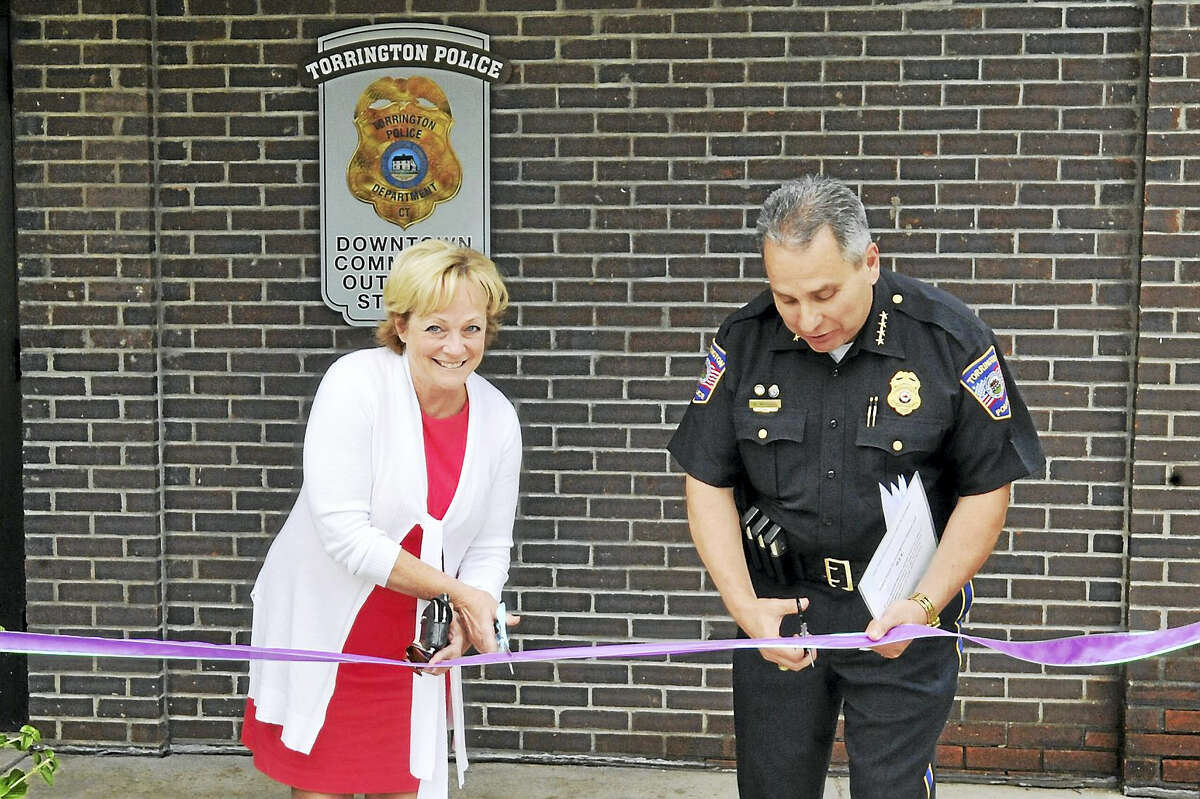 The Torrington Police Department opened a new community-outreach office in Coe Memorial Park Thursday.