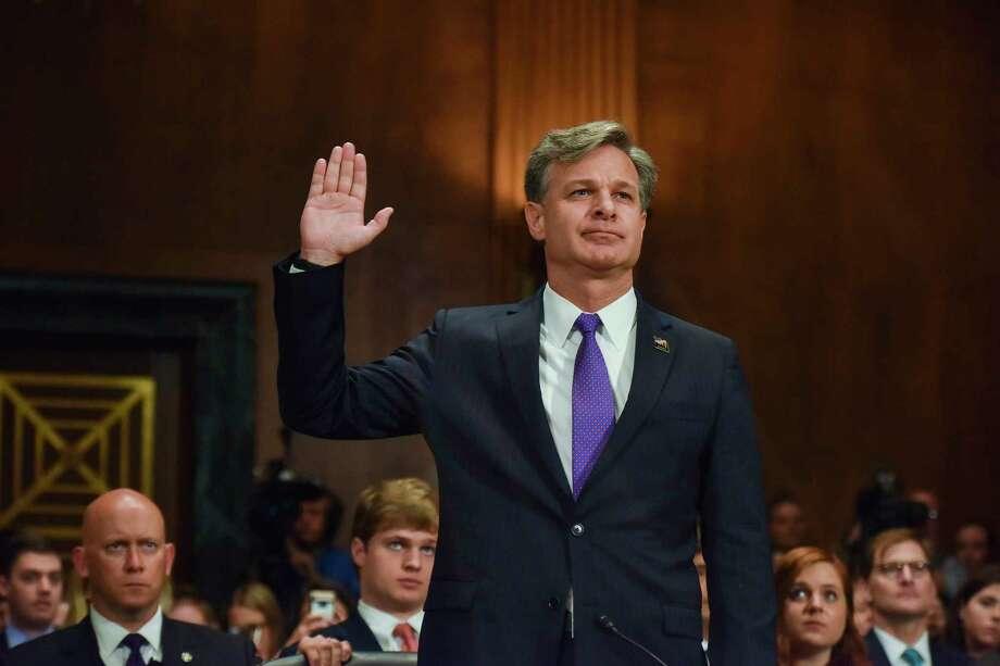 Christopher A. Wray, President Trump's nominee to head the FBI, testifies. Photo: Jahi Chikwendiu / Washington Post  / The Washington Post