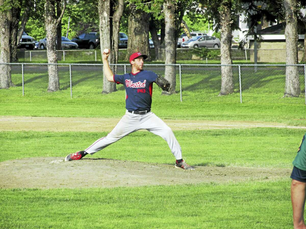 Backed by a flawless defense, Winsted's Jayson Reola pitched a two-hitter in Post 43's win over Simsbury on Tuesday at Walker Field.