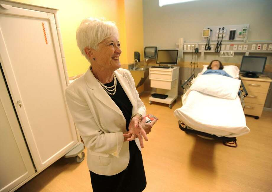 Dean of Nursing Mary Alice Donius gives a tour of the new Center for Healthcare Education at Sacred Heart University in Fairfield, Conn. on Thursday, August 17, 2017. Photo: Brian A. Pounds / Hearst Connecticut Media / Connecticut Post