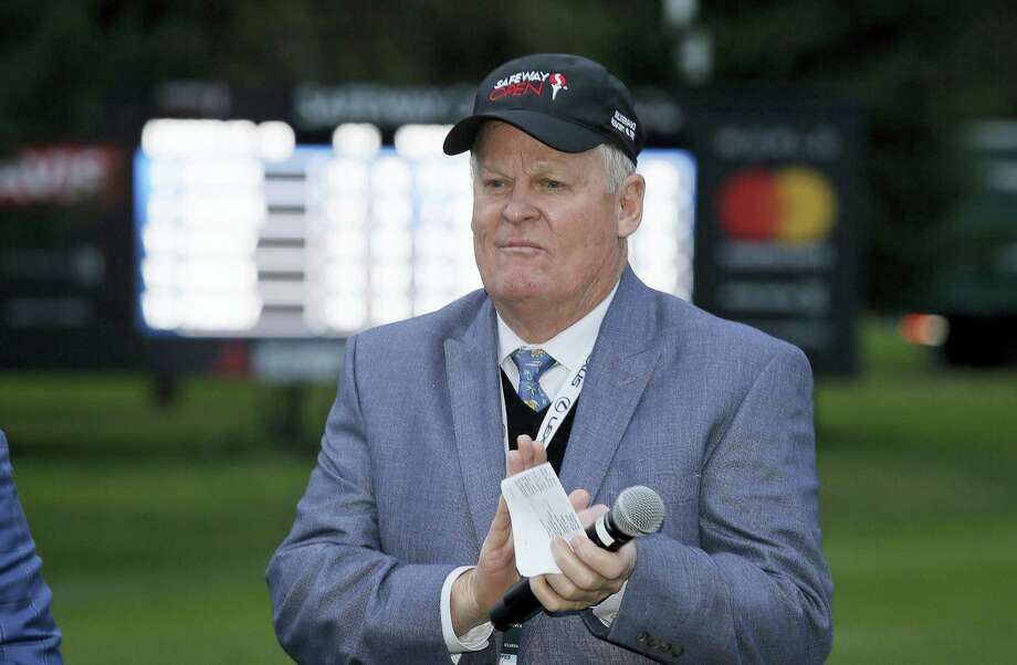 In a telephone interview Monday, Johnny Miller said he will stick around for at least another year. This is his 28th year working for NBC. Photo: The Associated Press File Photo  / Copyright 2017 The Associated Press. All rights reserved.