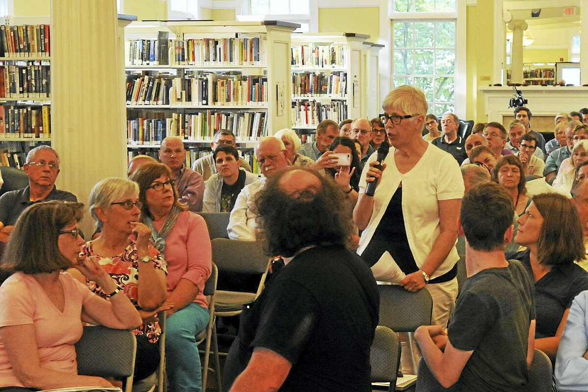 Residents filled the Beekley Community Library in New Hartford last week to discuss health care with U.S. Rep. John Larson.