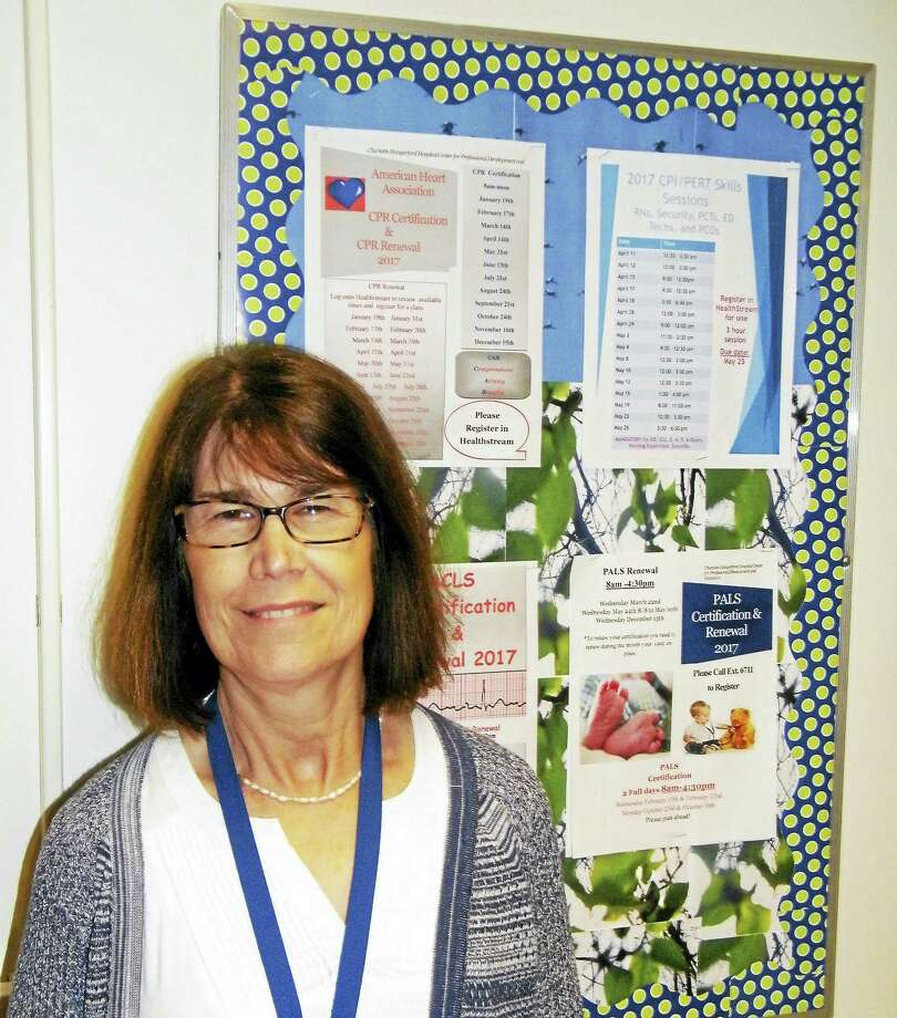 Charlotte Hungerford Hospital Nursing Education Specialist Debra Fisher, MA, RN, CCRN, recently received a 2017 Nightingale Award for Excellence in Nursing. Photo: Contributed Photo / Charlotte Hungerford Hospital