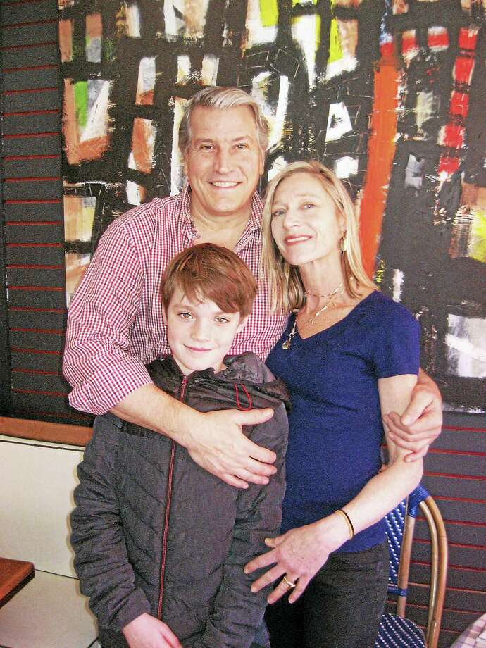 Owners, Eric and Liz Macaire and one of their two sons, Leland. Photo: Digital First Media