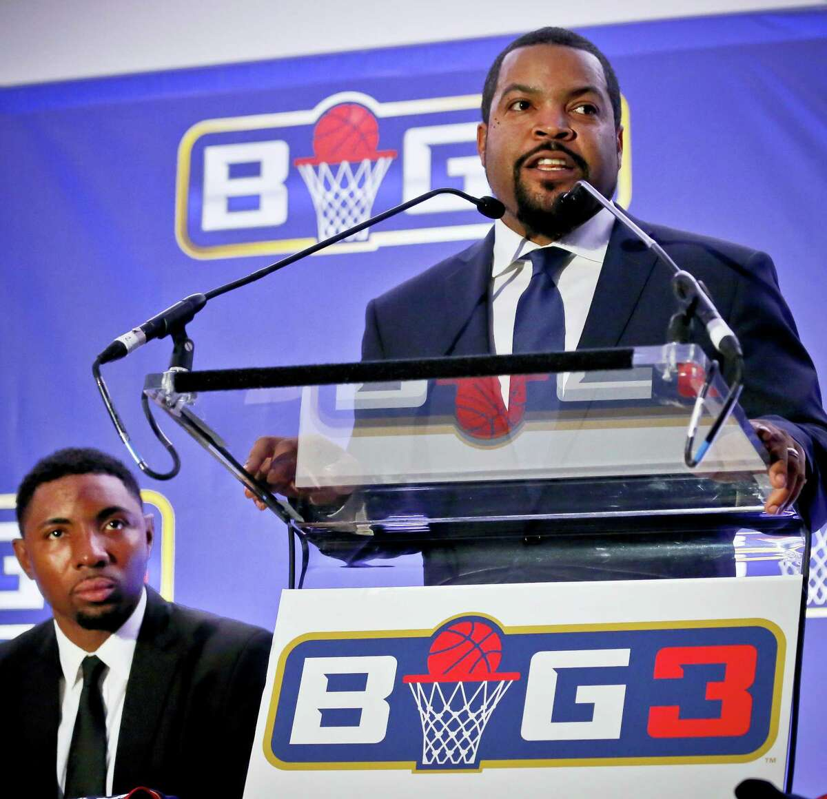 Ice Cube says his Big3 basketball league is open to moving its championship game to another arena in Las Vegas to make way for Floyd Mayweather's boxing match against Conor McGregor. The game is scheduled for Aug. 26 at T-Mobile Arena, the biggest venue in Las Vegas. Mayweather's fight against McGregor was later announced for the same site.