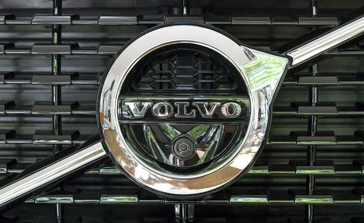 A Volvo XC 90 during an interview with Volvo Cars CEO Hakan Samuelsson at Volvo Cars Showroom in Stockholm, Sweden, Wednesday, July 5, 2017. Samuelsson said that all Volvo cars will be electric or hybrid within two years. The Chinese-owned automotive group plans to phase out the conventional car engine.