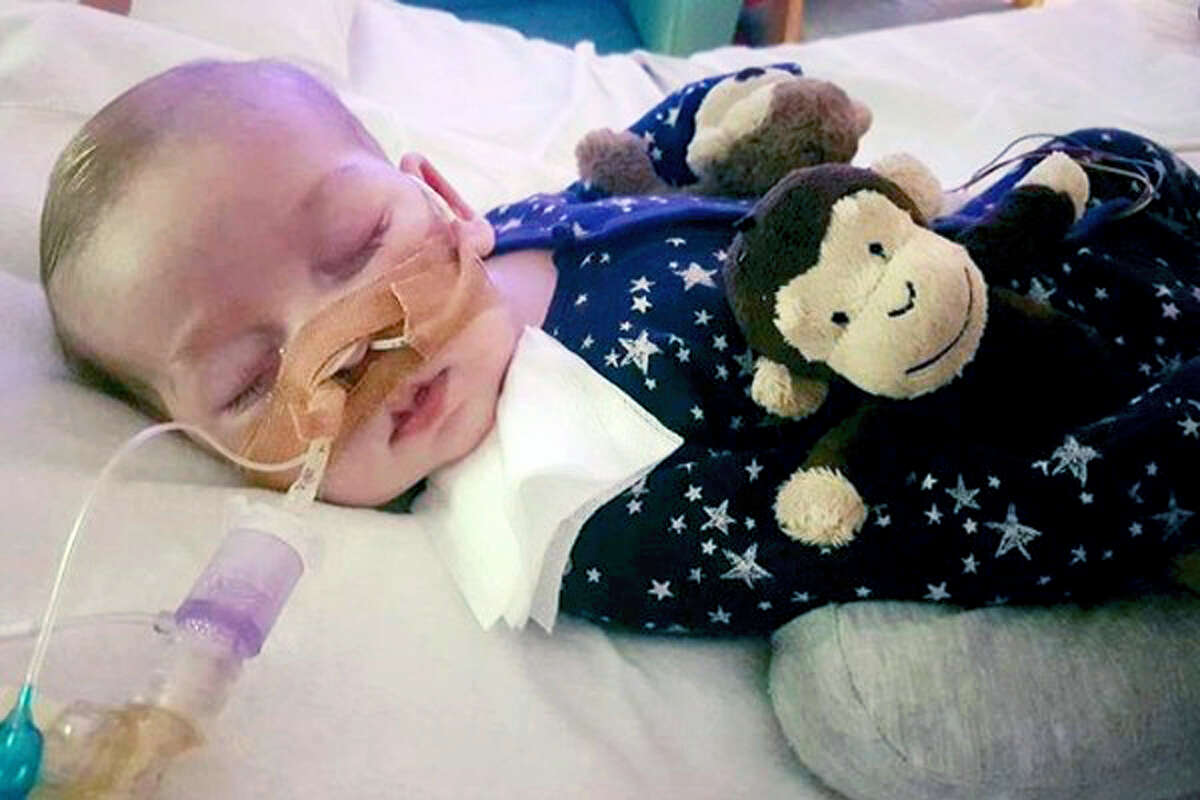 This is an undated hand out photo of Charlie Gard provided by his family, at Great Ormond Street Hospital, in London. The parents of a terminally-ill baby boy lost the final stage of their legal battle on Tuesday, June 27, 2017, to take him out of a British hospital to receive treatment in the U.S., after a European court agreed with previous rulings that the baby should be taken off life support.