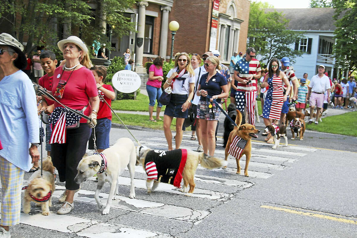The pet parade starts at the Litchfield Historical Society's annual Pet Parade and Turn-of-the-Century Festival
