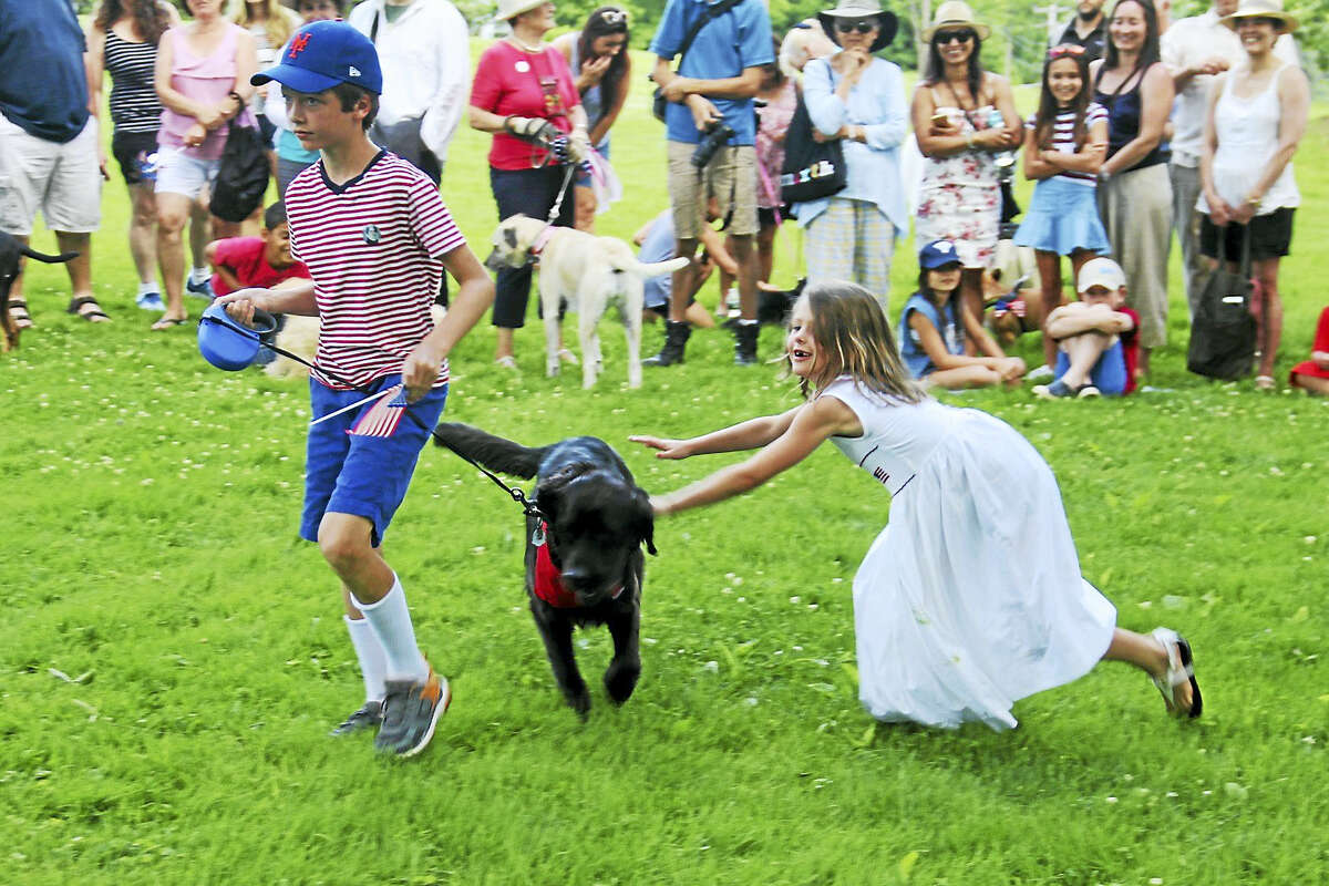 Everybody was having fun the Litchfield Historical Society's annual Pet Parade and Turn-of-the-Century Festival.