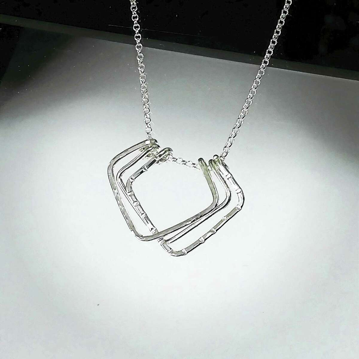 """Lori Meehan of Brookfield, sterling silver necklace, """"GEOMetry Collection."""""""