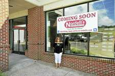 A new Nardelli's Grinder Shoppe franchise is under construction on East Main Street in Torrington. Above, owner Elizabeth Begley, a Torrington native, who left her nursing career to go into business for herself.