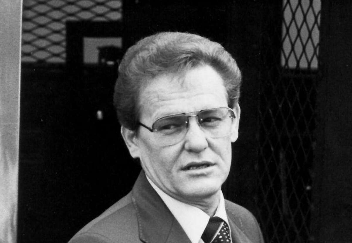 Charles Harrelson arrives at Federal Court 11-8-82 for his trial in the slaying of federal judge Wood.