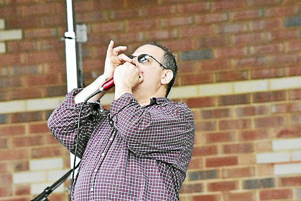 Kosher Kid leads The Amplifires at the Stafford Springs Blues Fest this Saturday.