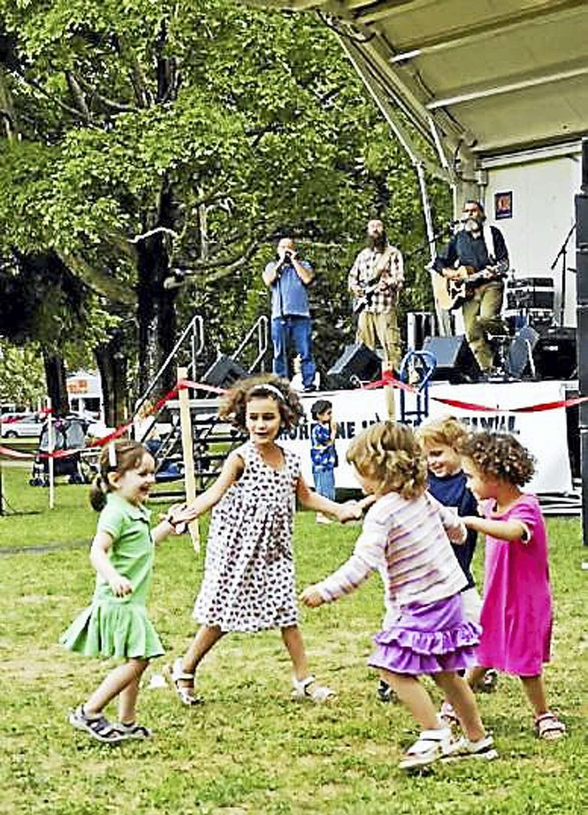 Children dance to Klezmer music during last year's Shoreline Jewish Festival.
