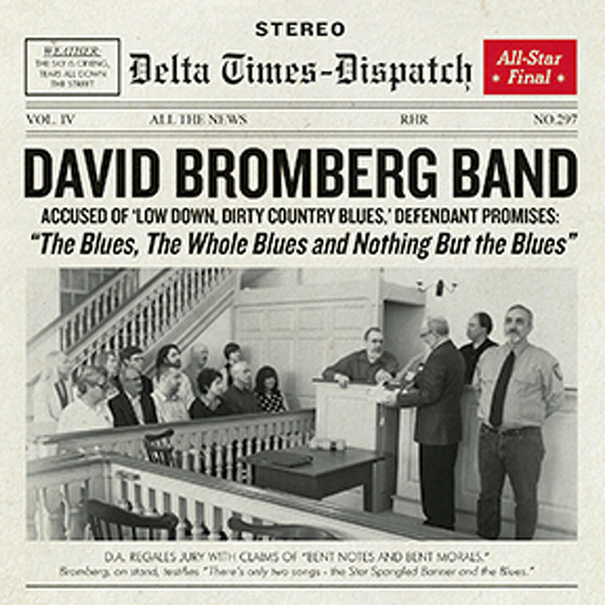 """American music icon David Bromberg will appear at Infinity Hall in Norfolk on Friday, Oct. 6 in support of his new Red House release, """"The Blues, The Whole Blues and Nothing But The Blues."""""""