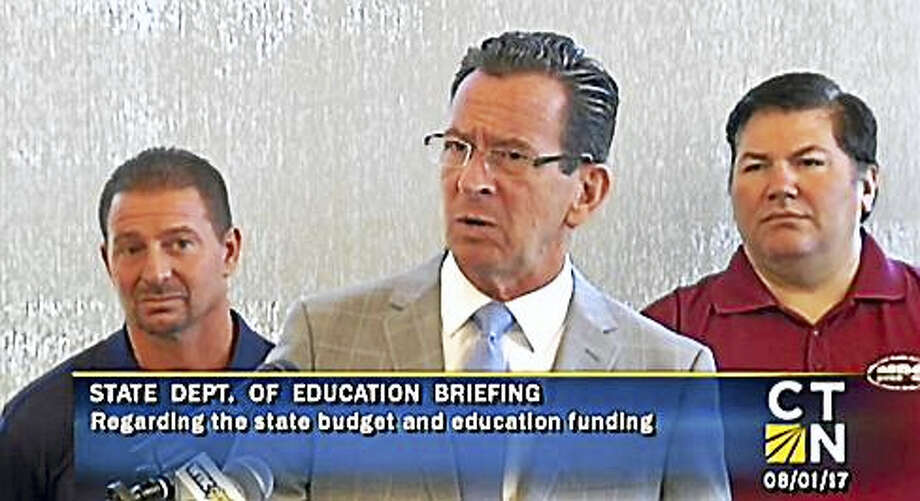 Gov. Dannel P. Malloy in Meriden Tuesday. Photo: Courtesy Of CTN