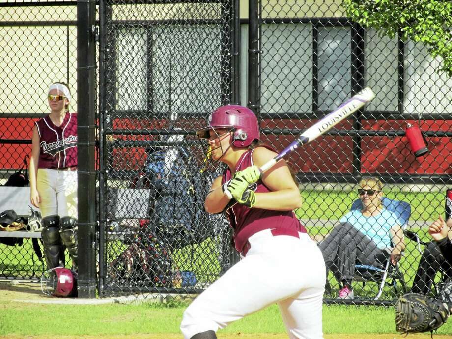 Amanda Thiel drove in two runs in Torrington's win over Rockville in a CIAC Class L second round game at Torrington High School Wednesday afternoon. Photo: Peter Wallace Photo