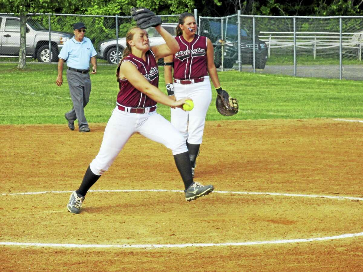 Pitcher Ali DuBois gave up just three hits in Torrington's Class L second round state tournament win over Rockville Wednesday at Torrington High School.