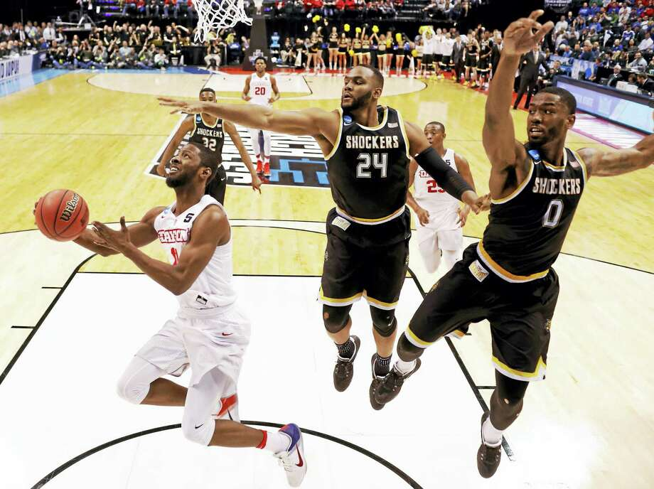 Wichita State is in talks to join the AAC. Photo: Jeff Roberson — The Associated Press  / Copyright 2017 The Associated Press. All rights reserved.