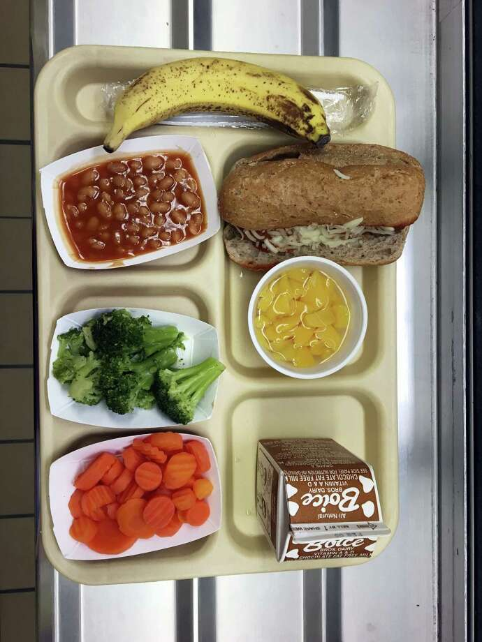 This Jan. 25, 2017, file photo shows a lunch served at J.F.K Elementary School in Kingston, N.Y., where all meals are now free under the federal Community Eligibility Provision. A donor inspired by a tweet raised money to pay off lunch debt in districts around the country, as well as thousands of dollars in overdue lunch fees at other schools in the Kingston district. Photo: AP Photo/Mary Esch, FIle   / AP