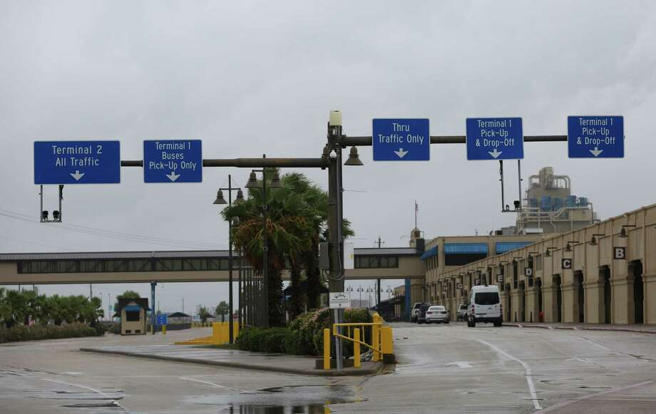 The usually busy Port of Galveston Cruise Terminals are closed for  Hurricane Harvey until further notice