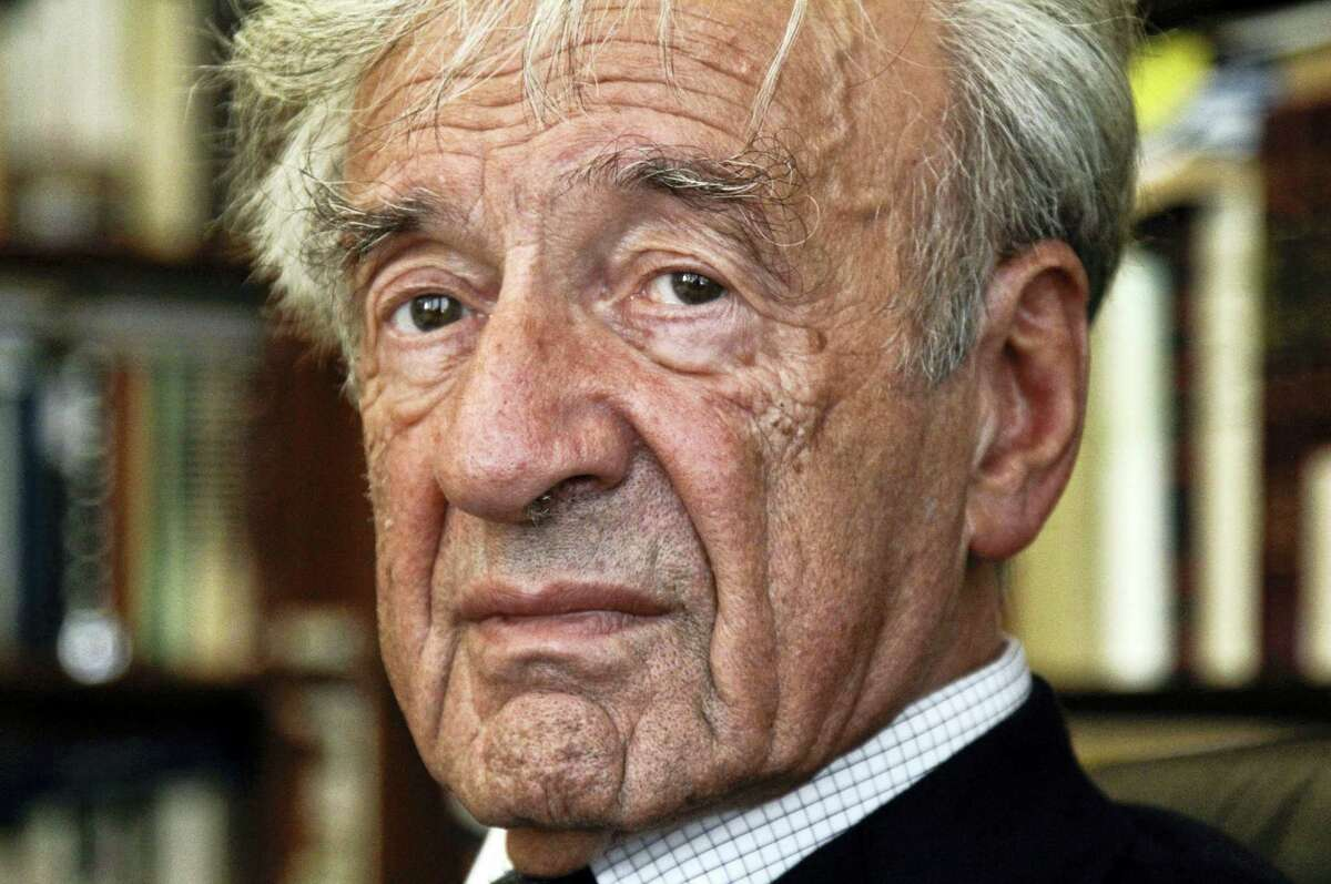 Elie Wiesel is photographed in his office in New York.