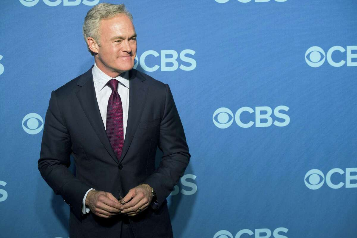 """In this May 15, 2013, file photo, Scott Pelley attends the CBS Upfront in New York. Pelley is out as """"CBS Evening News"""" anchor, and he'll be returning to full-time work at the network's flagship newsmagazine """"60 Minutes."""" Two people familiar with the situation on Wednesday, May 31, 2017, confirmed the reports."""