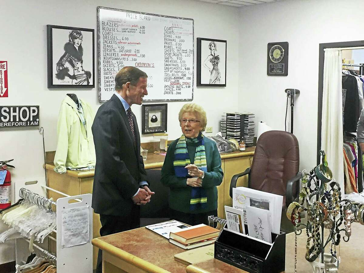 U.S. Sen. Richard Blumenthal visited Torrington Friday afternoon to discuss the importance of the Meals on Wheels program with local seniors.