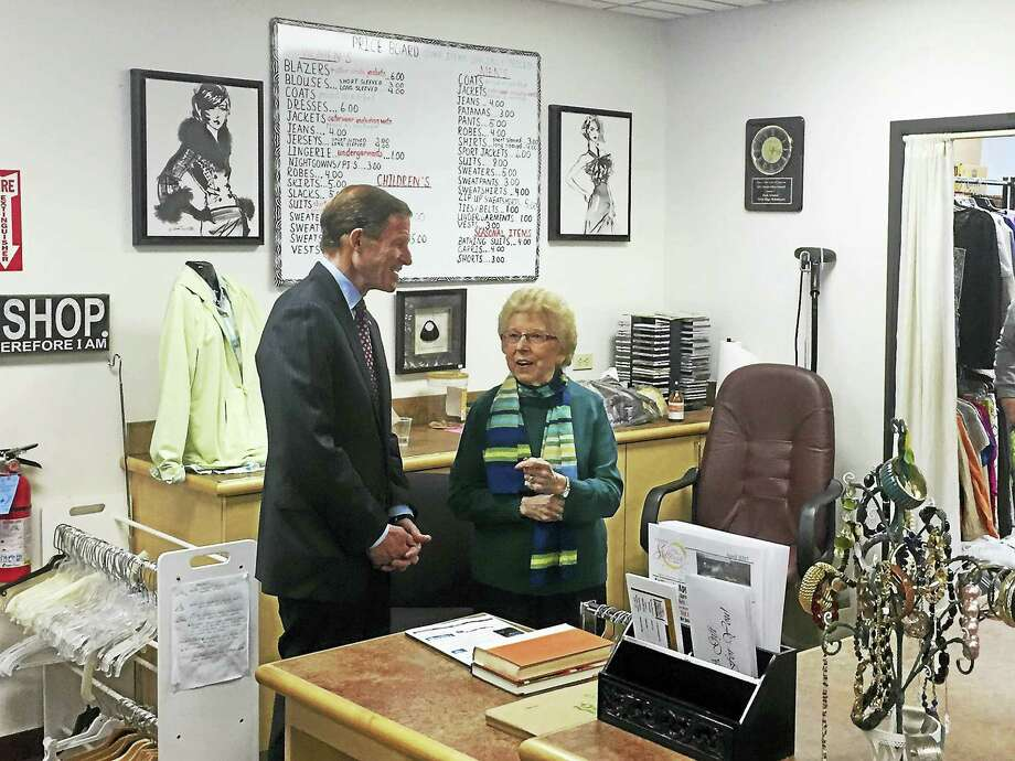 U.S. Sen. Richard Blumenthal visited Torrington Friday afternoon to discuss the importance of the Meals on Wheels program with local seniors. Photo: Ben Lambert — The Register Citizen