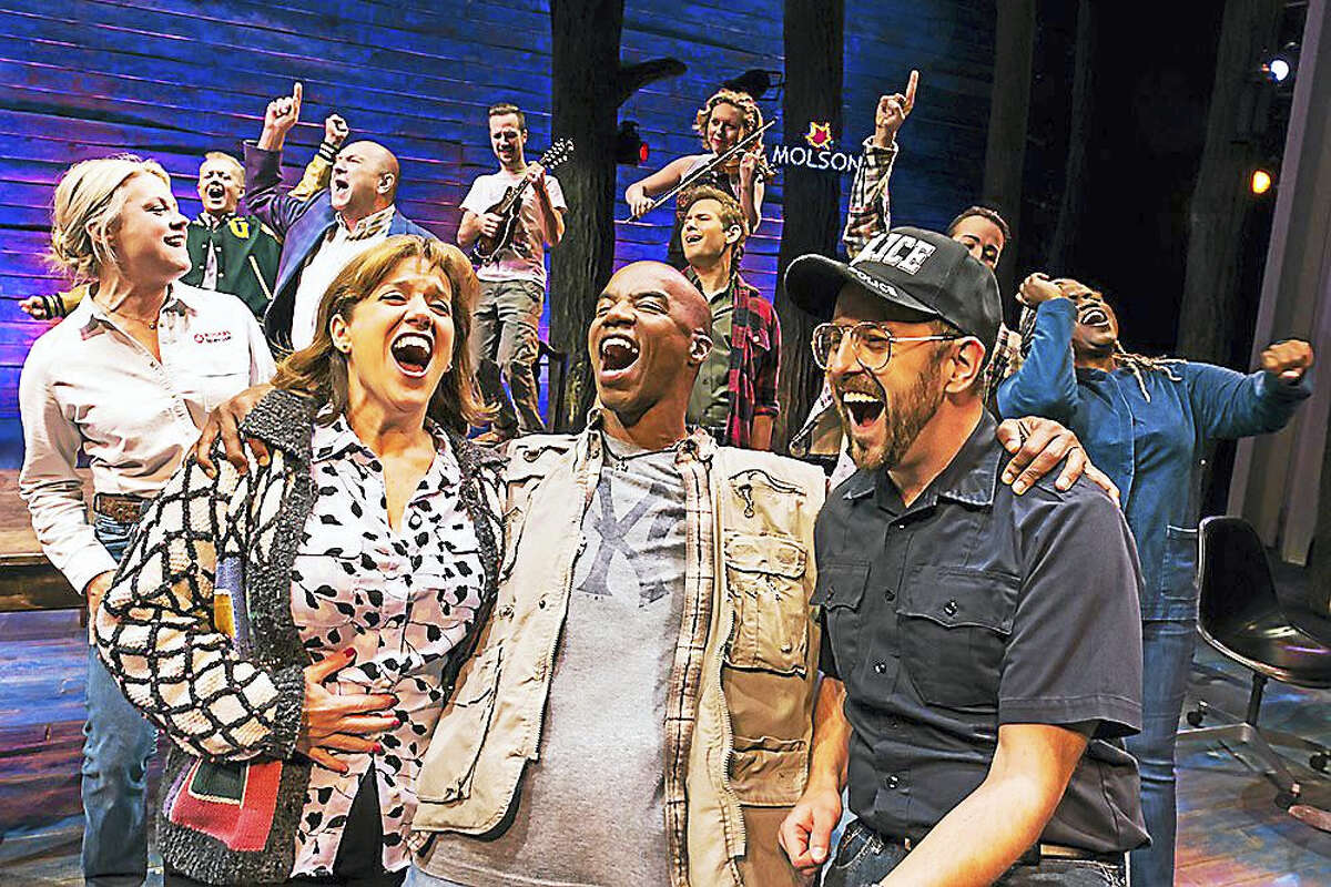 """Members of the cast of """"Come From Away."""""""