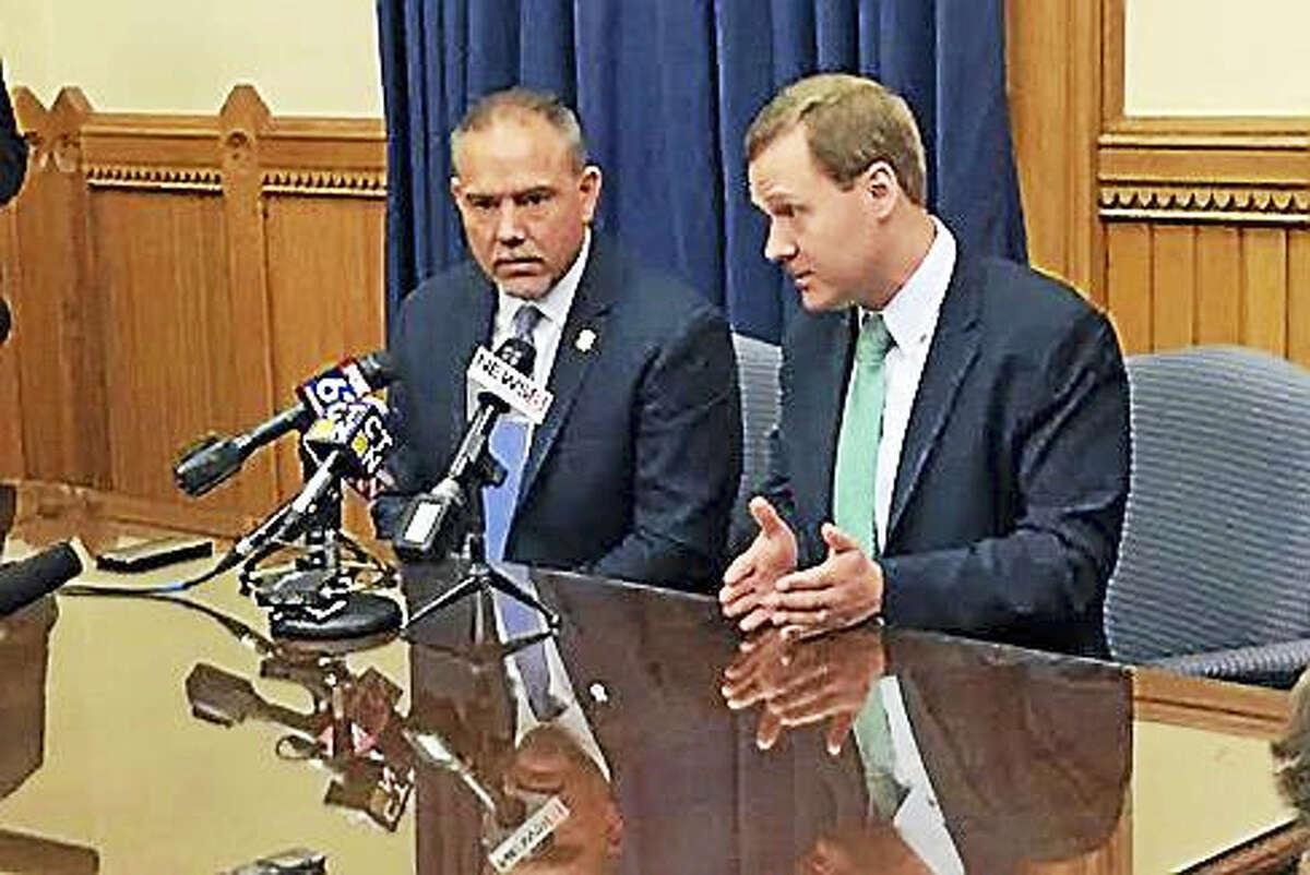 House Majority Leader Matt Ritter and House Speaker Joe Aresimowicz.