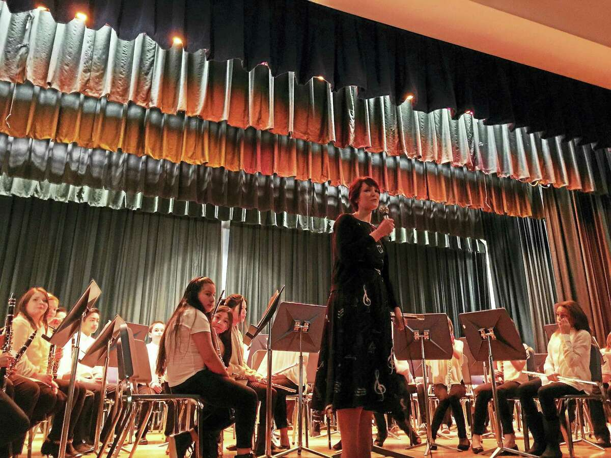 Ben Lambert - The Register Citizen City fifth-grade students and mentors from the middle school and high school performed Wednesday evening, as the All City Elementary Honors Orchestra & Band Concert was held at Torrington Middle School.