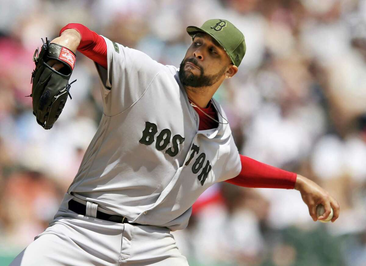 Boston pitcher David Price throws against the Chicago White Sox during the first inning Monday. It was Price's first start of the season.