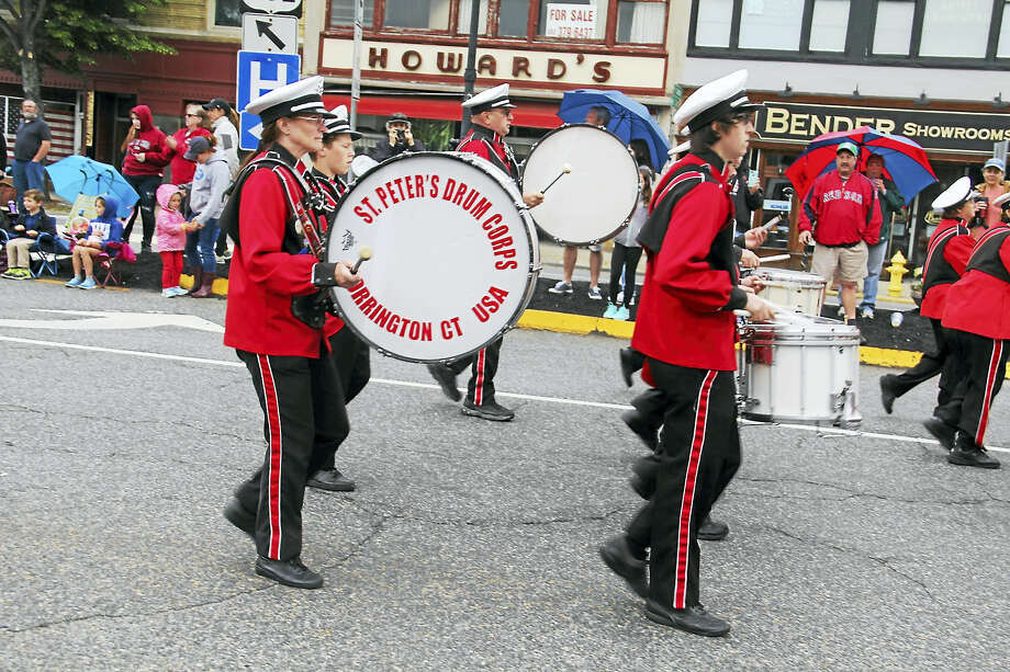 St. Peter's Drum Corps marched in the parade on Monday in Torrington. Photo: Digital First Media