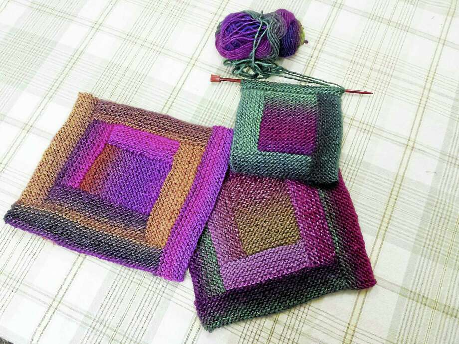 Focus On Fiber Arts Join A Log Cabin Afghan Knit Along The