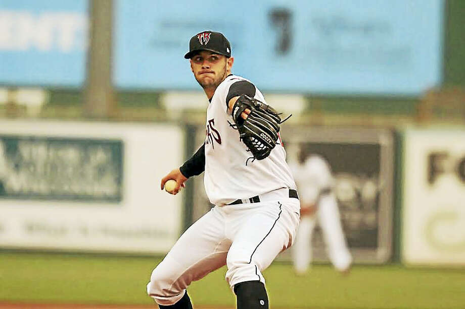 Quinnipiac product Thomas Jankins is having a solid season for the Class A Wisconsin Timber Rattlers. Photo: Ann Mollica — Wisconsin Timber Rattlers