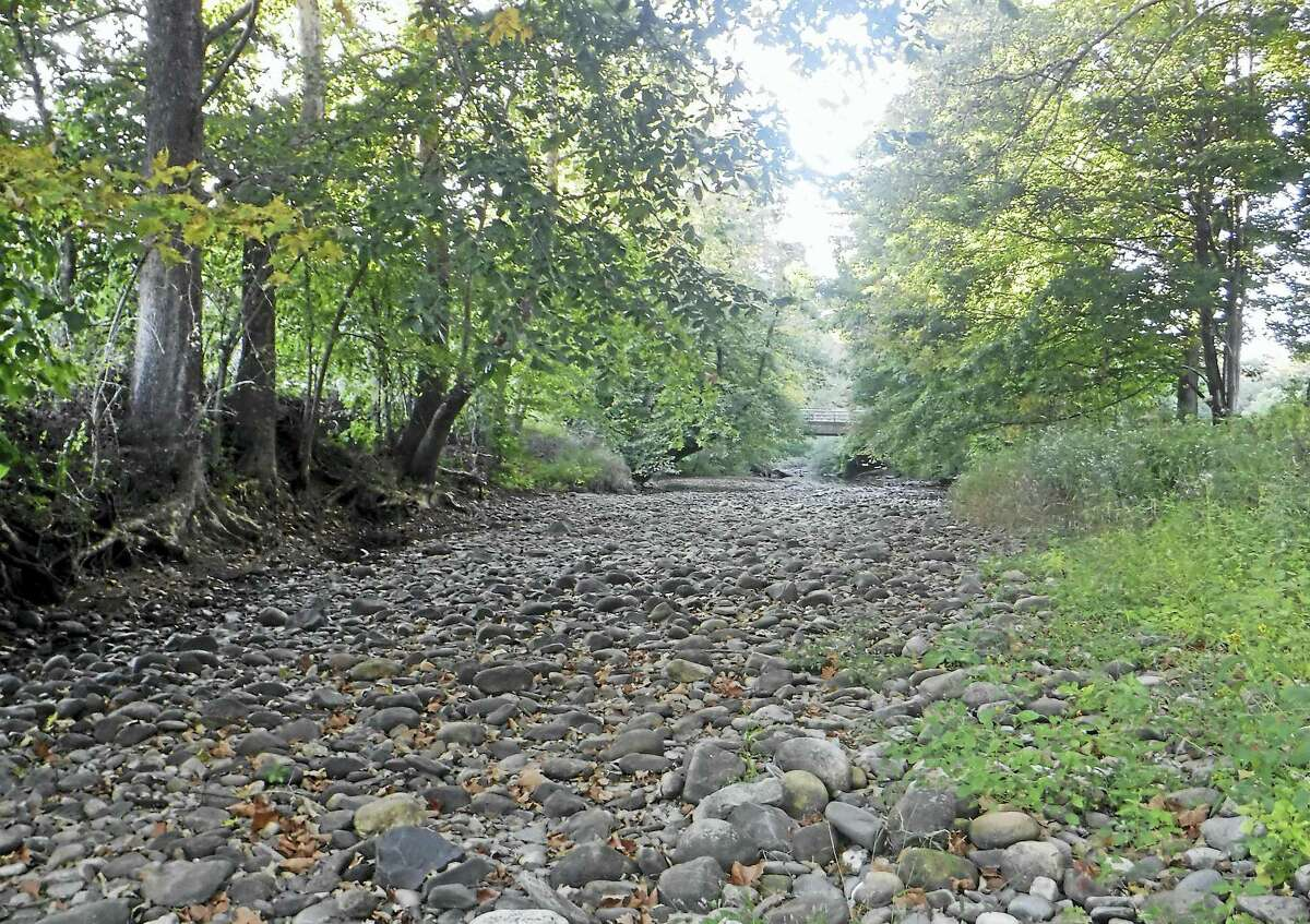 Above, the dry channel of the Weekeepeemee River taken at Three Rivers Park in Woodbury, in a photo taken in September 2015.