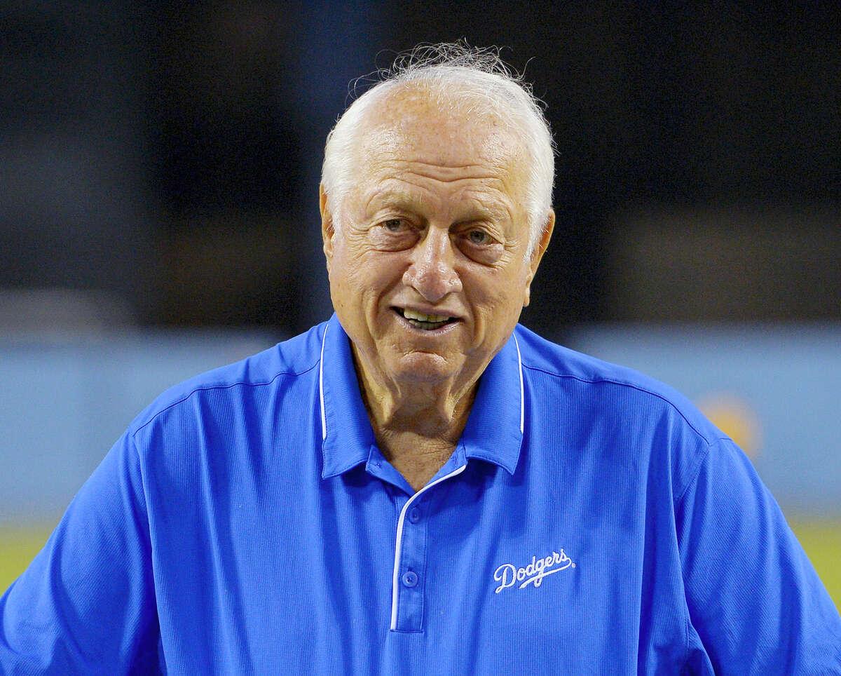 Former Los Angeles Dodgers manager Tommy Lasorda.