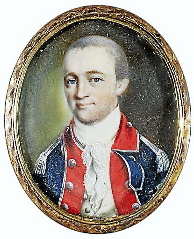 A miniature portrait of Benjamin Talmadge.