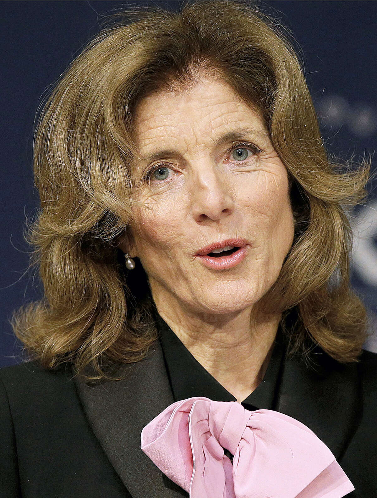 In this April 20 file photo, Caroline Kennedy, daughter of former President John F. Kennedy and former U.S. Ambassador to Japan, speaks about her father as she kicks off the John F. Kennedy Centennial Symposium at Harvard's Kennedy School of Government in Cambridge, Mass. John F. Kennedy didn't make it even halfway to 100 — a milestone he might have celebrated May 29, 2017 — but the slain U.S. president's legacy is being lived out by his descendants.
