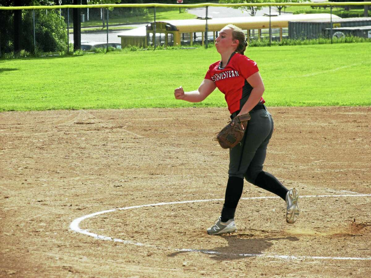 Northwestern's Kate Matava and her defense held Thomaston to four hits while the Highlanders earned sole possession of the Berkshire League Softball Championship Wednesday afternoon at Thomaston High School.